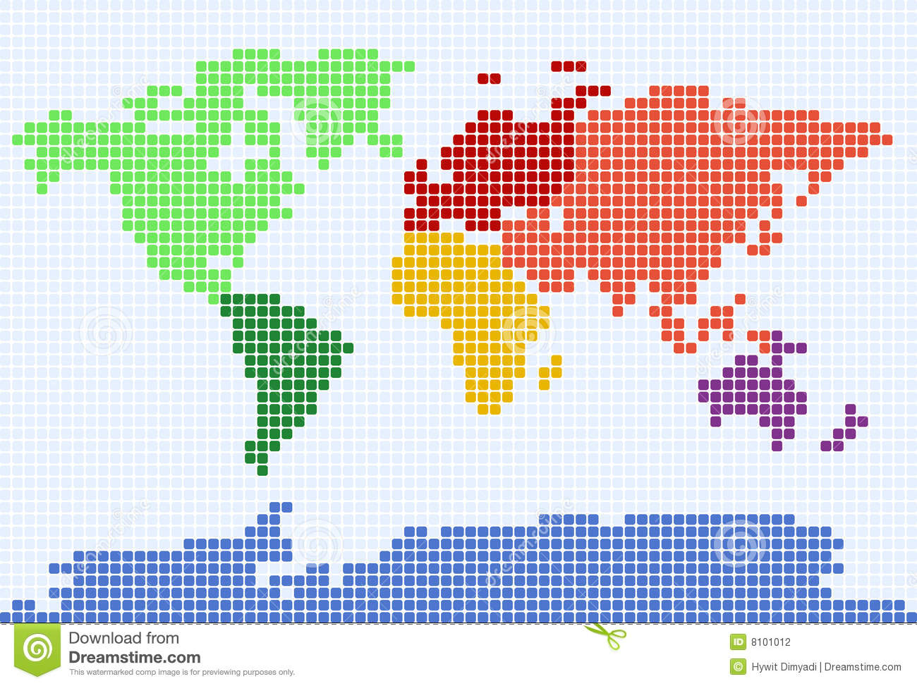 Dotted World Map Stock Illustration Illustration Of Asia