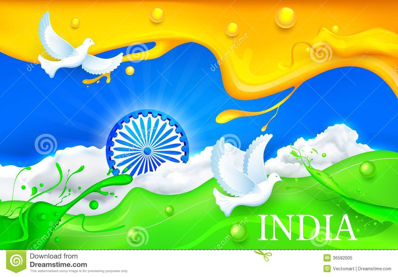 Indian Flag Animation Wallpaper Dove Flying With Indian Tricolor Flag Royalty Free Stock