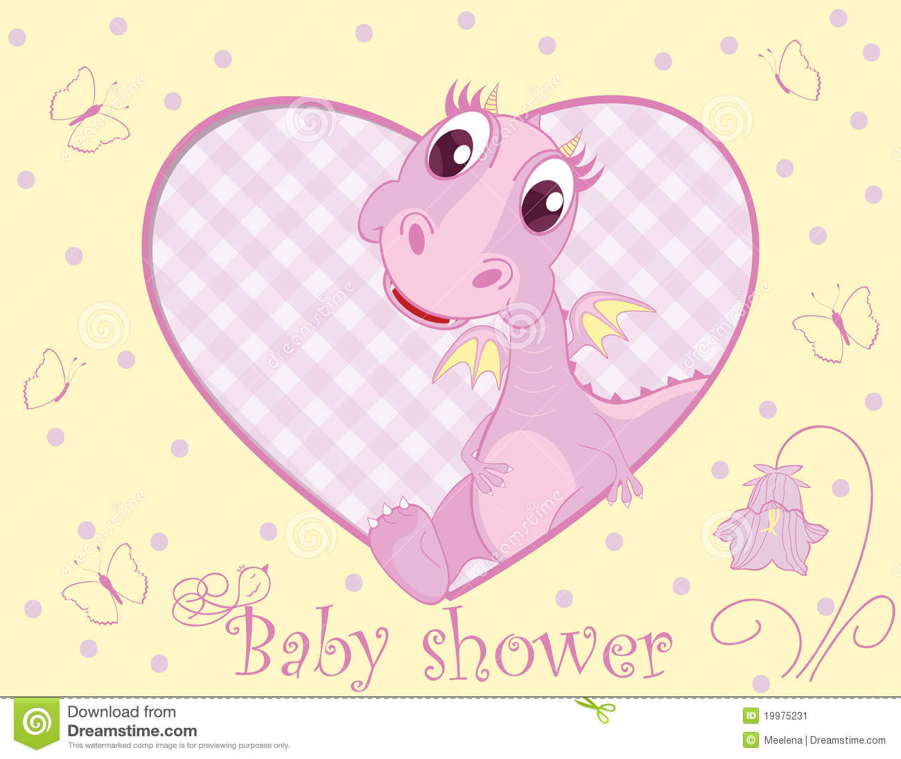Newborn Baby Girl Wallpaper Dragon For Baby Girl Stock Vector Image Of Illustration
