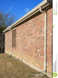 Drain pipe on the wall stock photo. Image of building ...