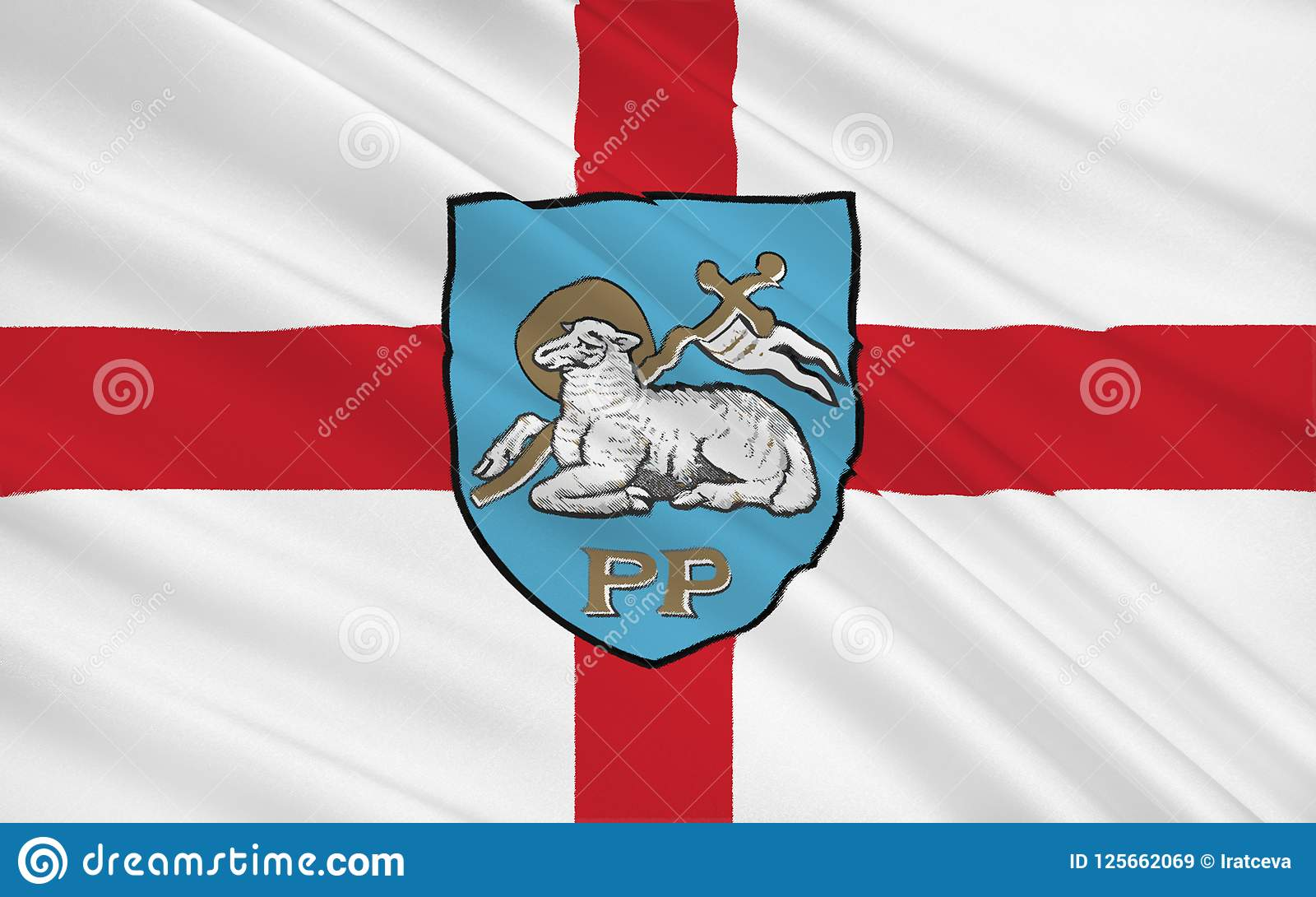 Preston Angleterre Drapeau De Ville De Preston Angleterre Illustration Stock