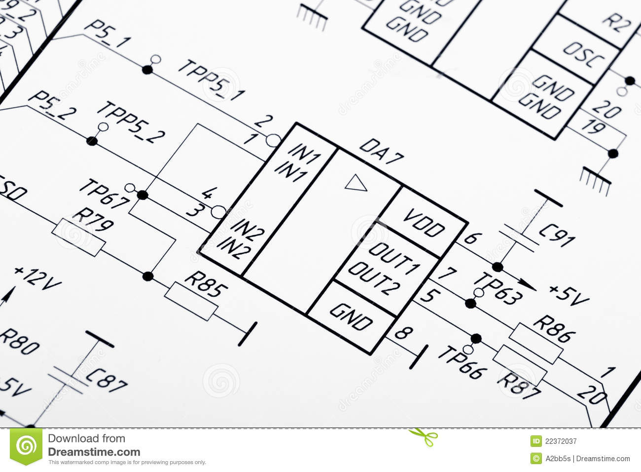 drawing electrical circuit stock photo c a2bb5s 8375679