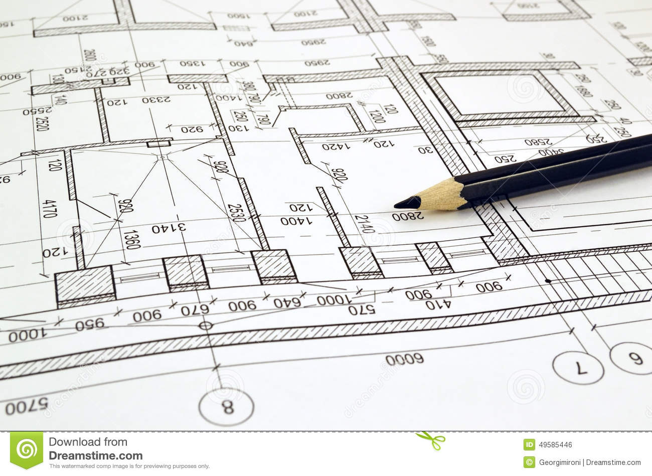 Charpente Industrielle Tarn Drawing A Floor Plan Of The Building Stock Photo Image