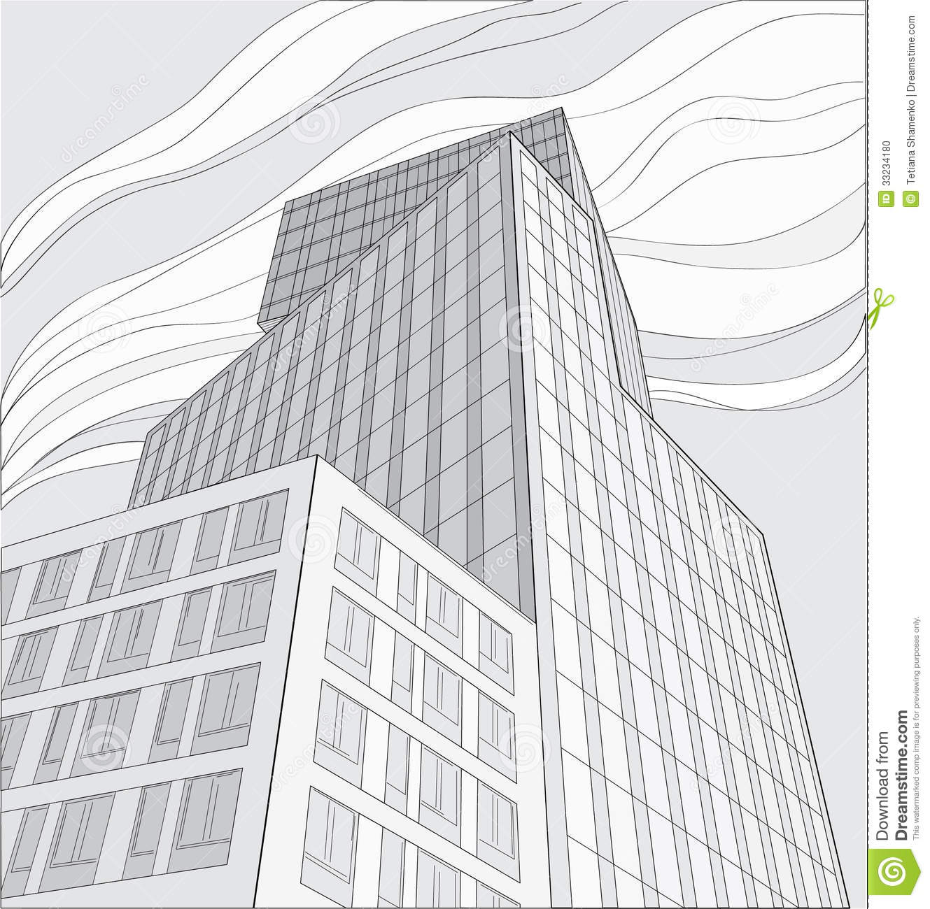Dessin Immeuble En Perspective Drawing Of Skyscraper Stock Photo Image Of Architect
