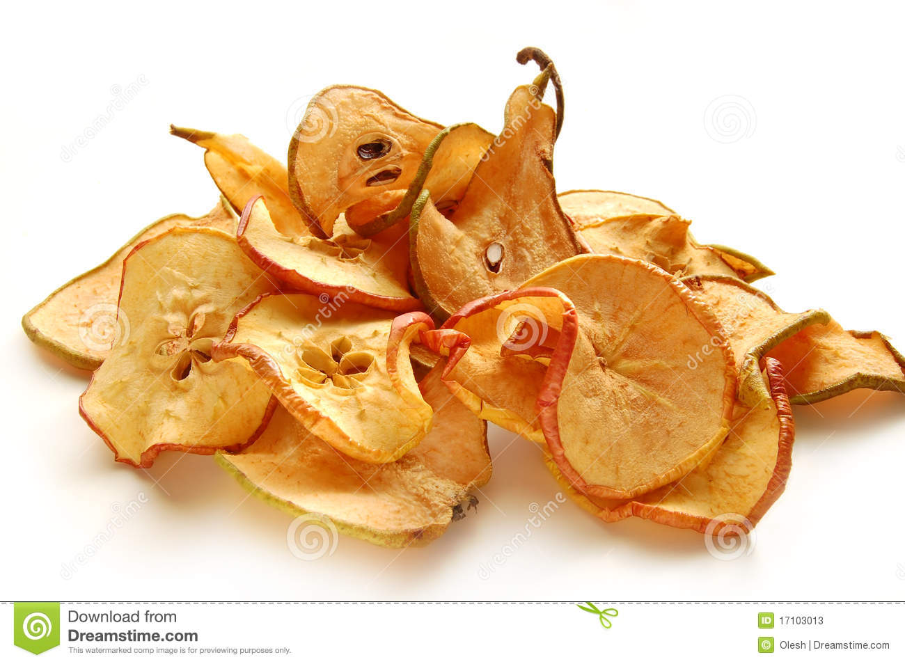 Gedroogde Appels Dried Apples And Pears Stock Image Image Of Slice Fruit