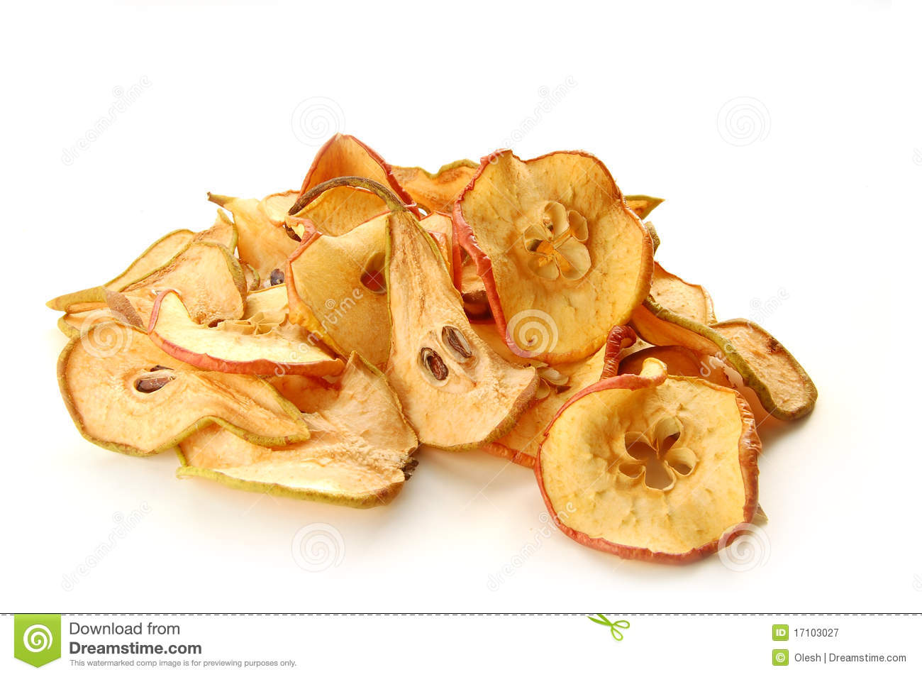 Gedroogde Appels Dried Apples And Pears Royalty Free Stock Photography