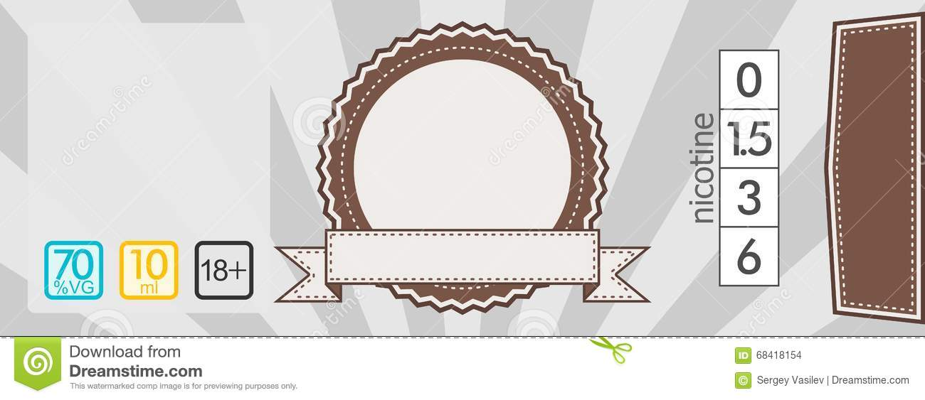 E-liquid Sticker Label Template Stock Illustration - Illustration of