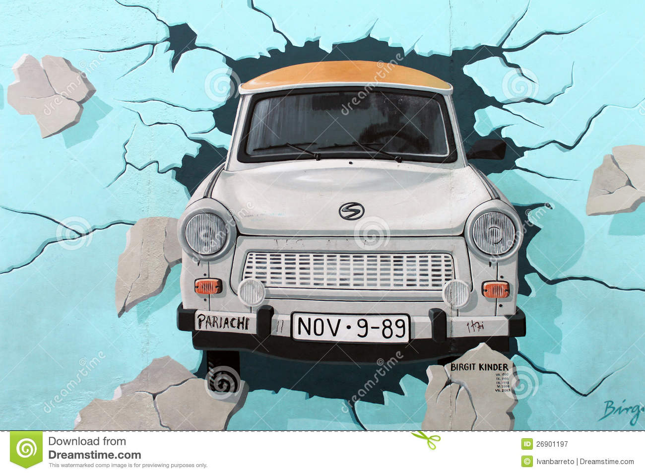 Trabant Clipart East Side Gallery Berlin Wall Trabant Car Editorial Photography