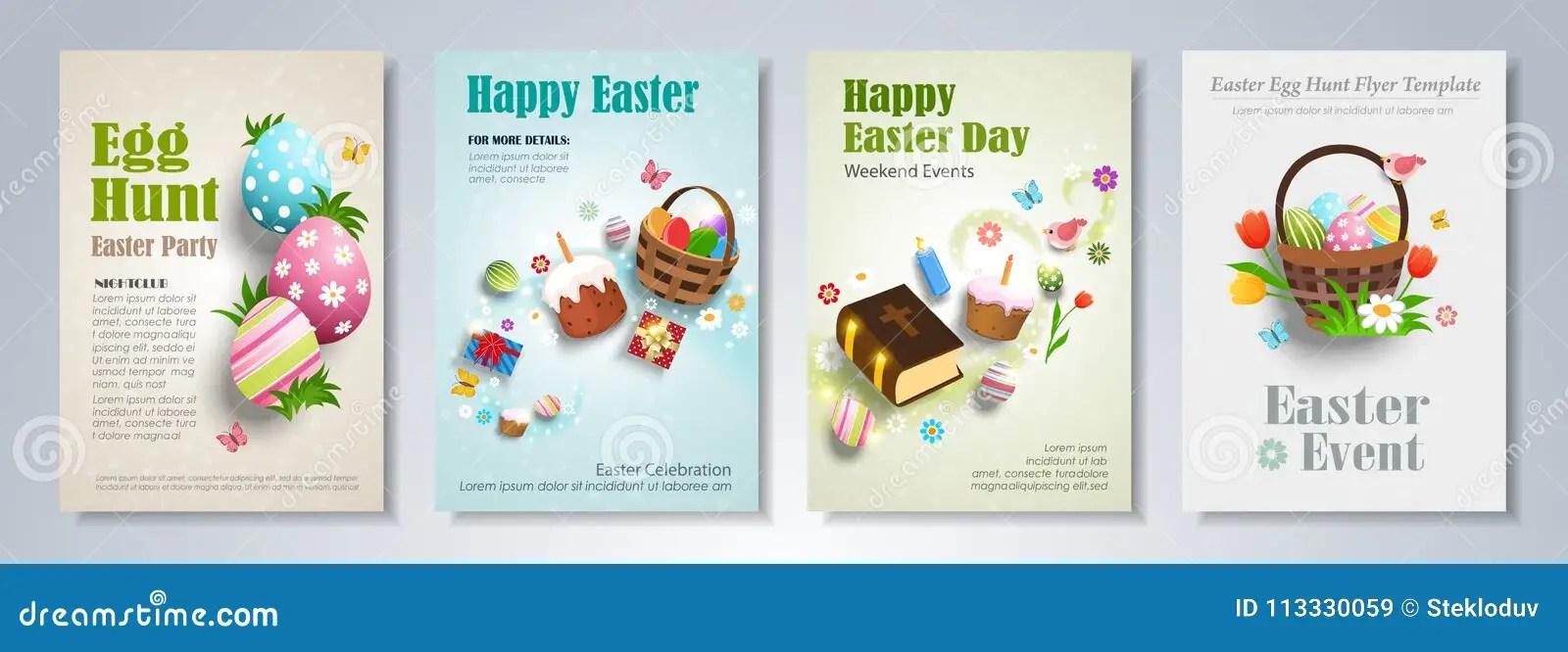 Easter brochure template stock vector Illustration of grass - 113330059