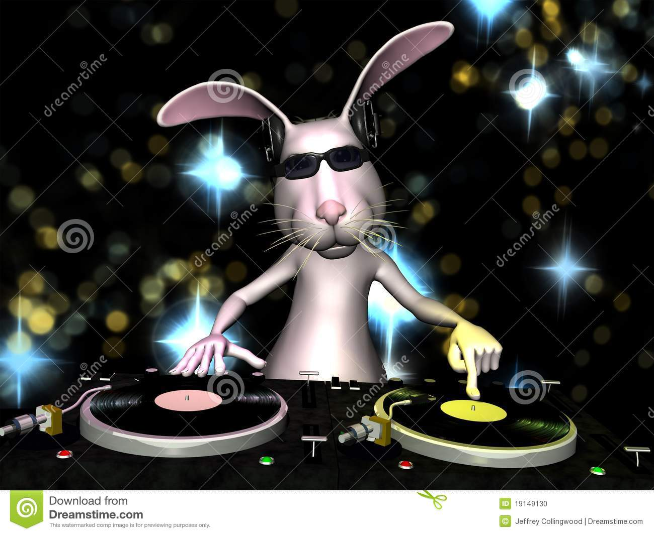 3d Cartoon Wallpapers Download Easter Bunny Dj Stock Photo Image 19149130