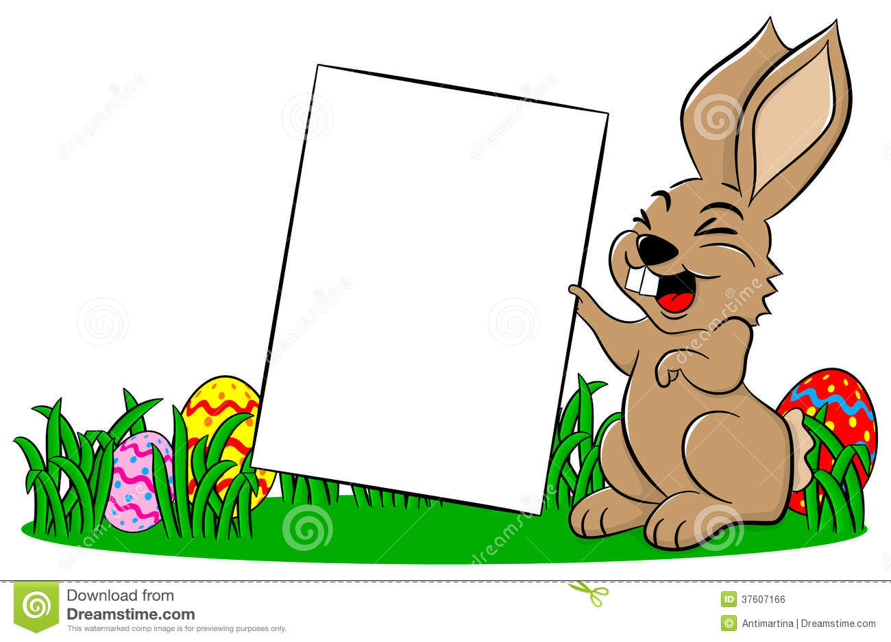 Cute Rabbit Wallpaper Free Download Easter Bunny Holding A Sign In Hand Stock Vector Image