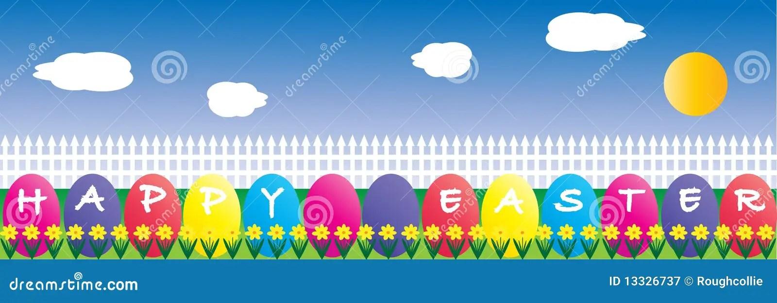 Easter Egg Border stock vector Illustration of colours - 13326737