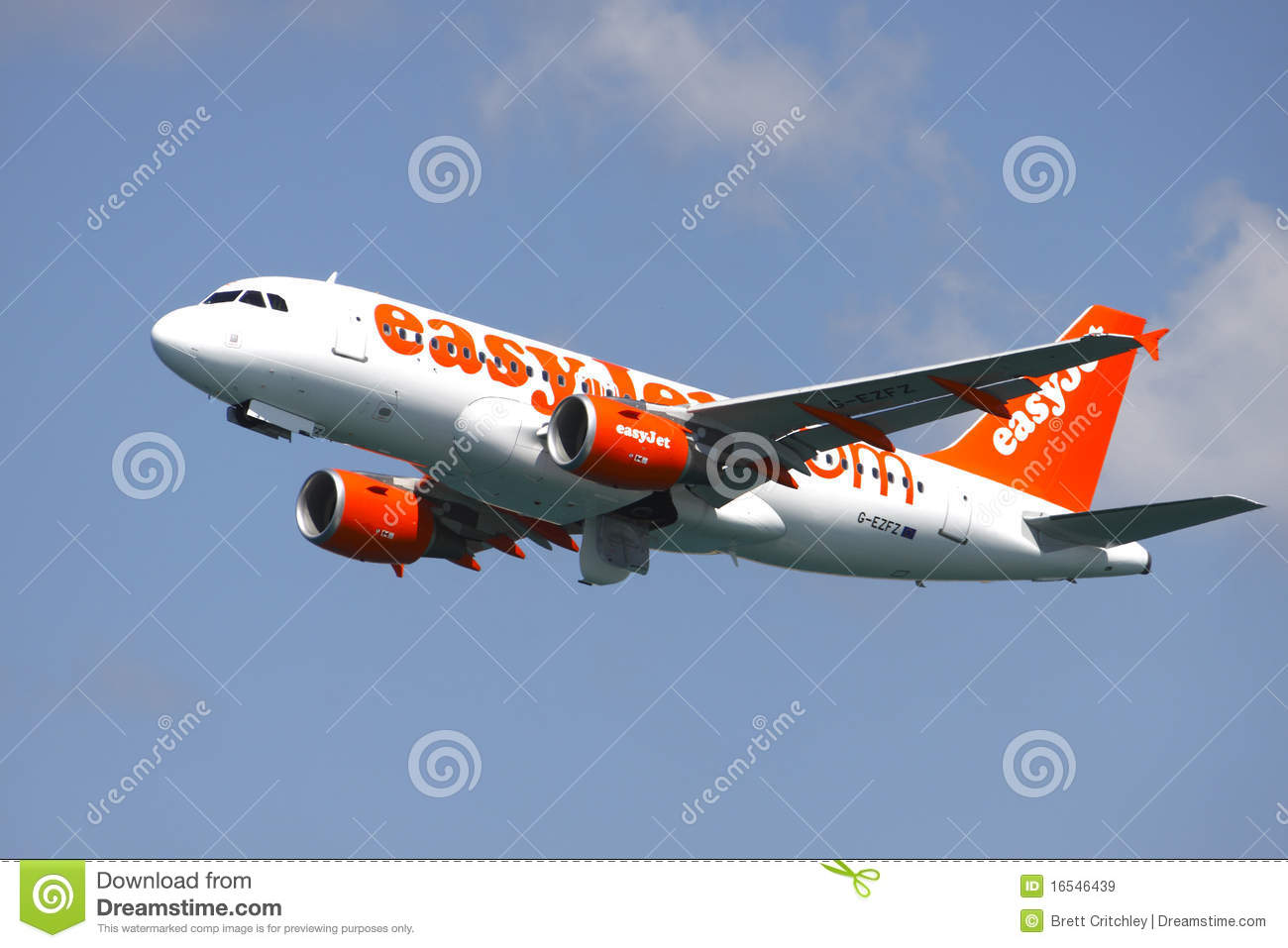 Aeroplane Fly Easyjet Easy Jet Aircraft Editorial Stock Image - Image