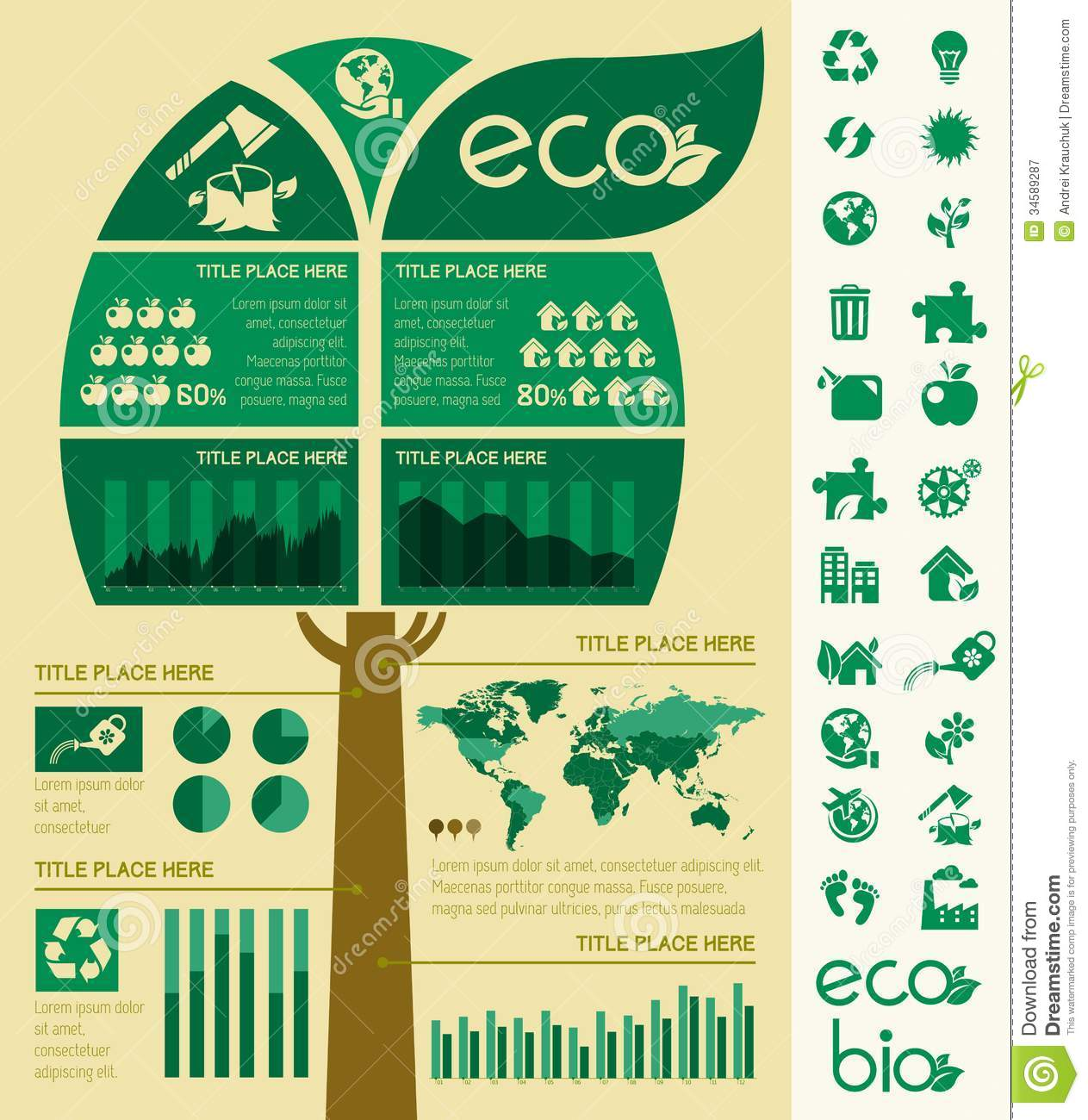 recycling infographic template