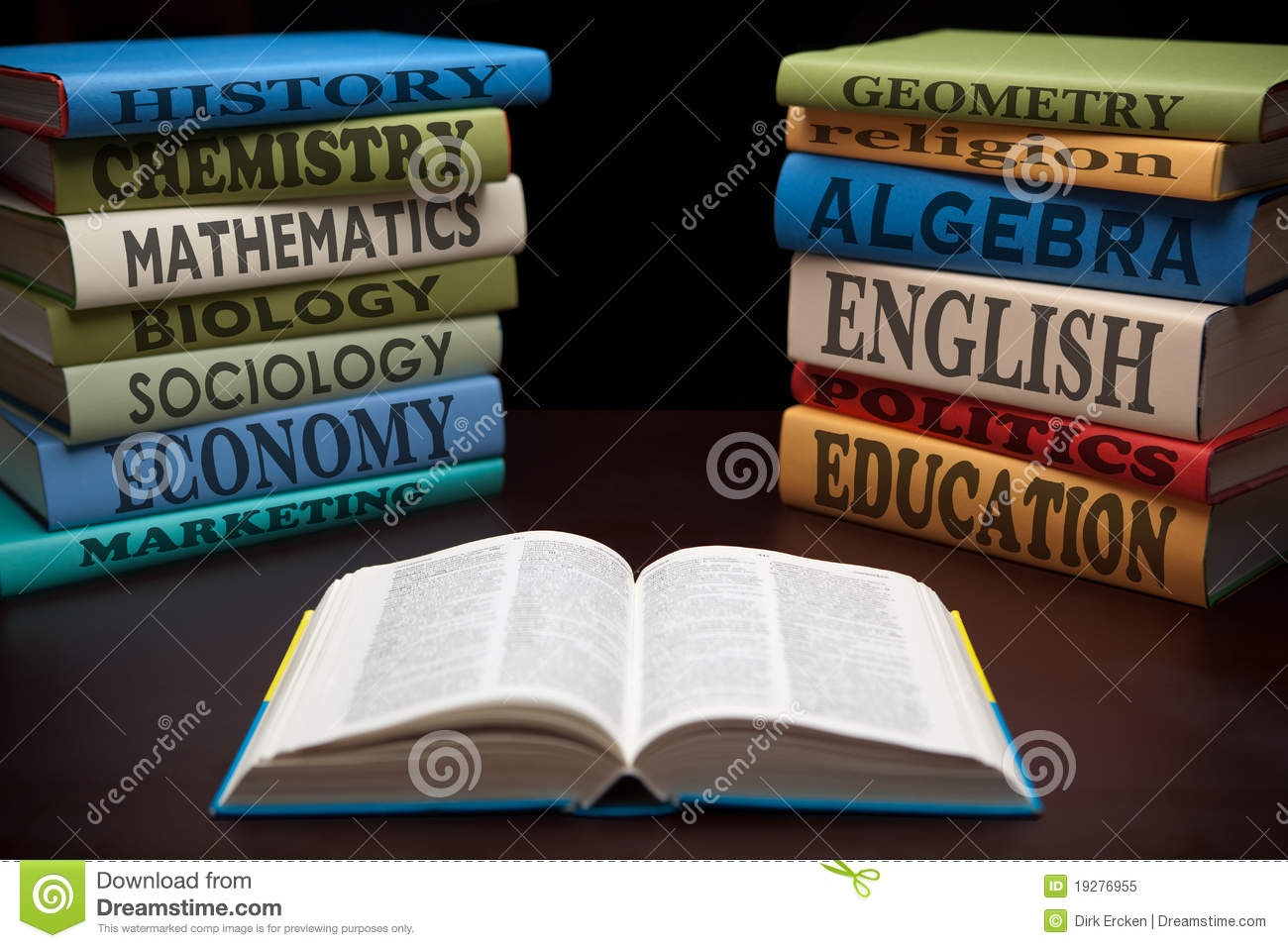 Free 3d Pile Of Bricks Wallpaper Education Study Books Of Knowledge Royalty Free Stock