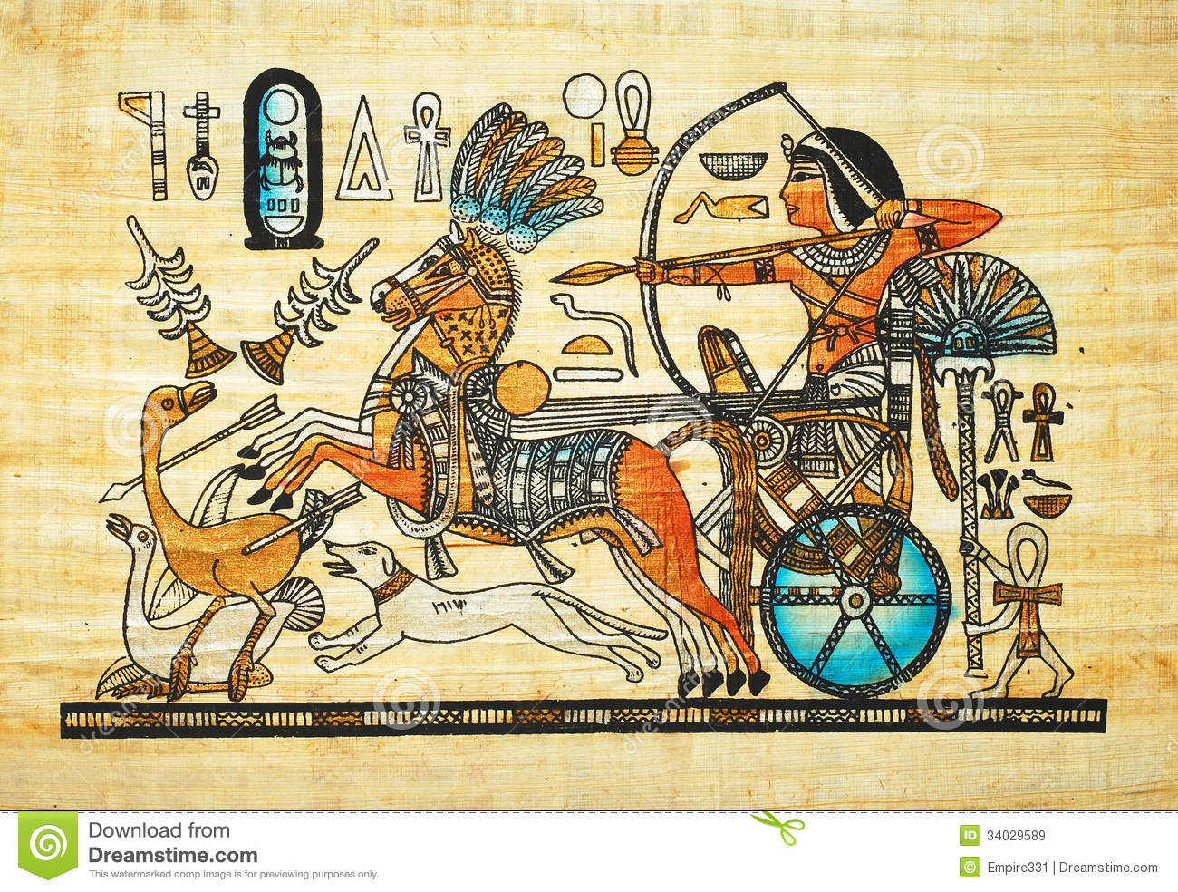 Pintura Egipcia Egyptian Painting Stock Image Image Of Ancient Hunt