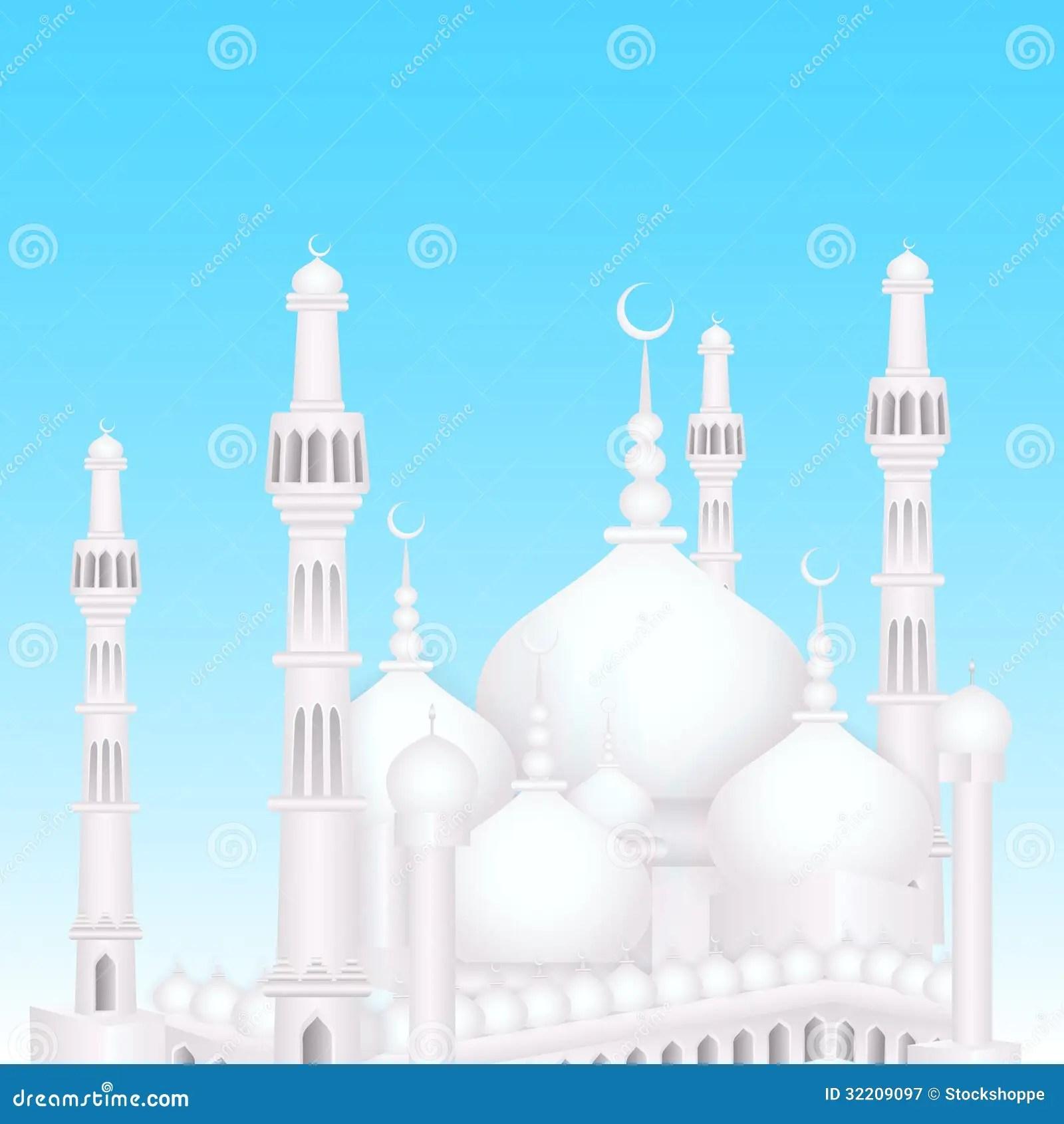 Wallpaper Hd Muslim Eid Mubarak Background With Islamic Mosque Stock Vector