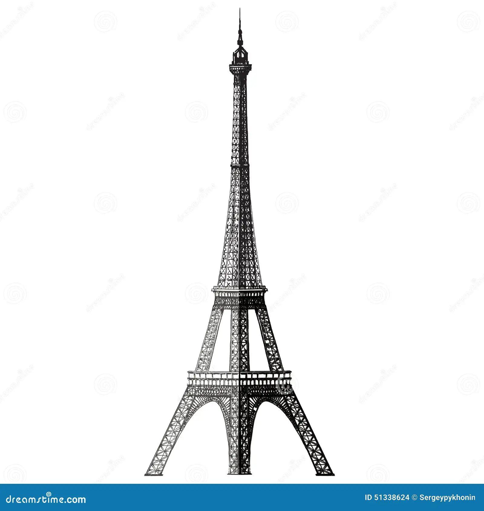Eiffel tower vector logo design template france stock