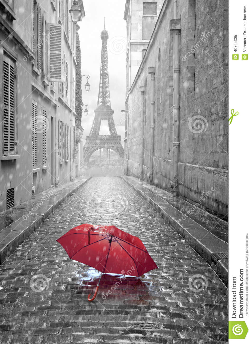 Photo Stock Paris Eiffel Tower View From The Street Of Paris Stock Image Image Of
