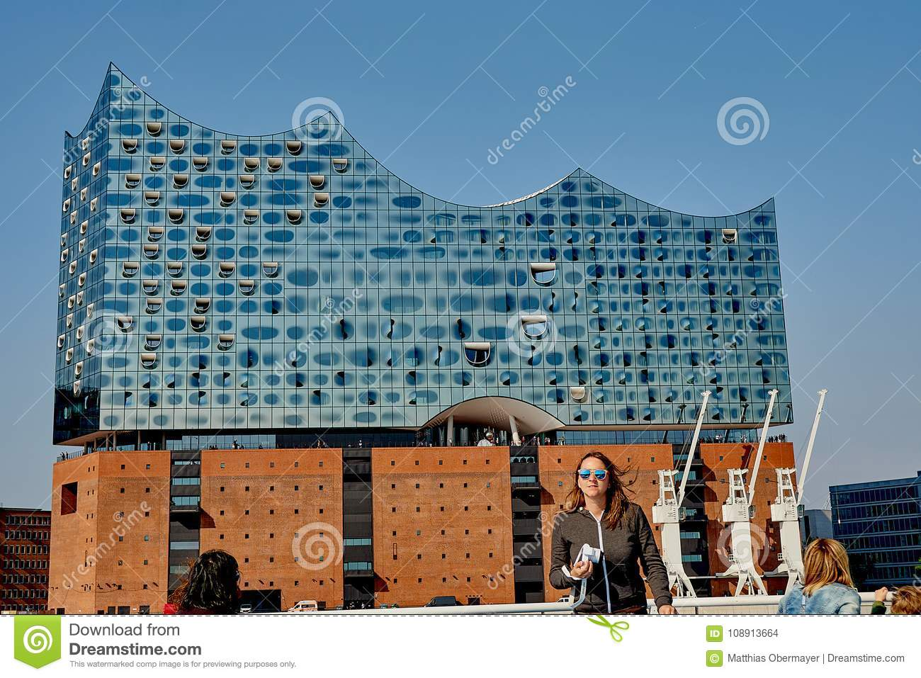 Gateway Hamburg The Elbphilharmonie Building In The Port Of Hamburg Editorial