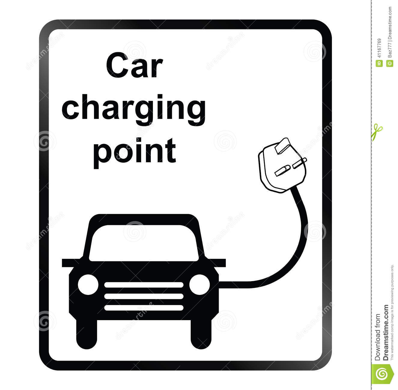 Electric Cars Information Electric Car Information Sign Stock Vector Image 41167769