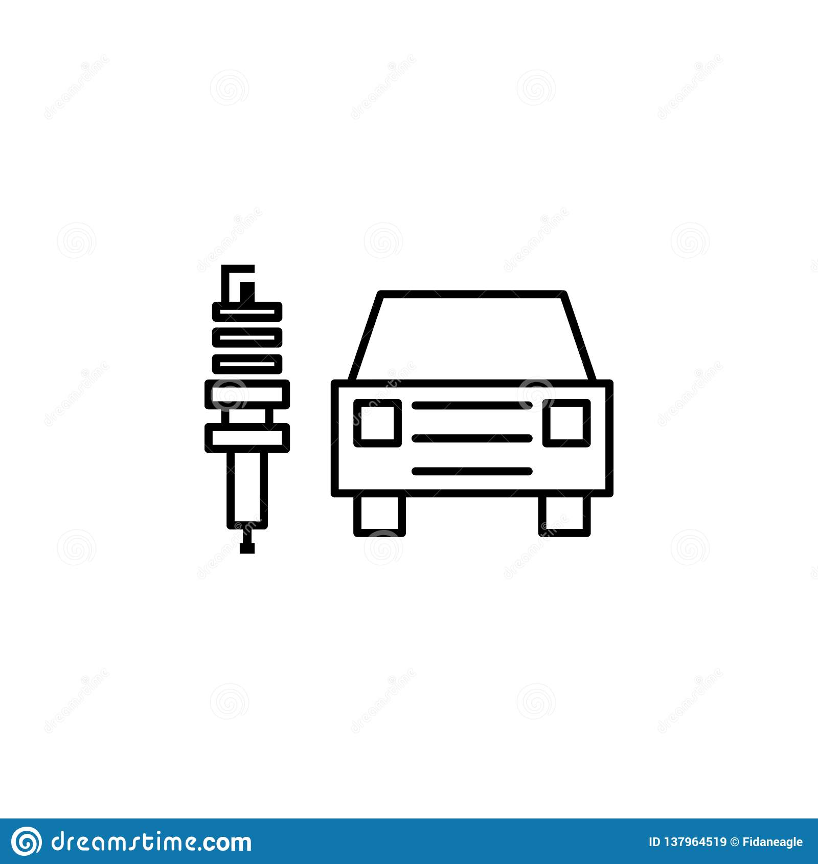 Ux Plug Electric Car Plug Outline Icon Can Be Used For Web Logo
