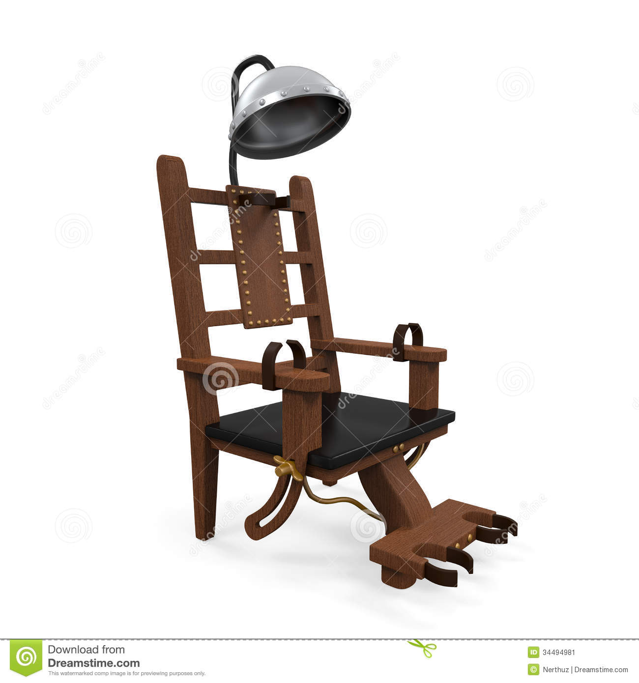 Execution Chaise Electrique Youtube Electric Chair Isolated Stock Image Image 34494981