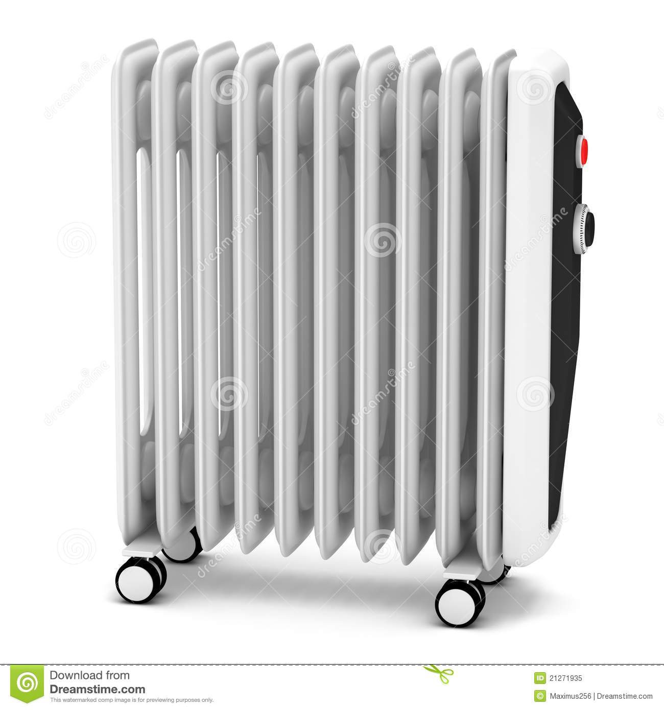 Electric Oil Heater Stock Illustration Image Of - Elektrische Radiator