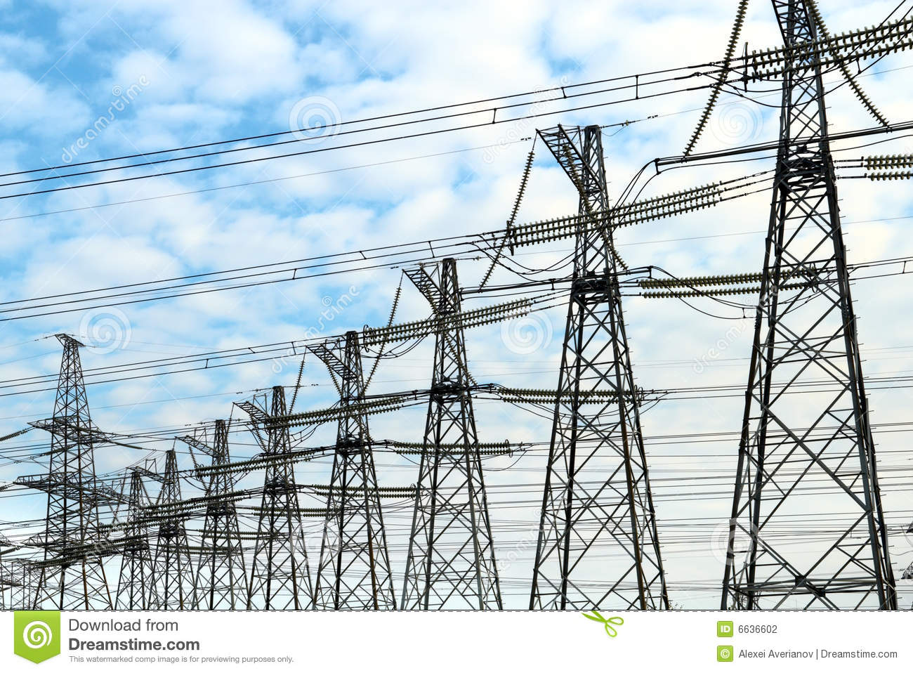Power Electric Electric Power Masts Stock Photo Image Of Energy Funnel 6636602