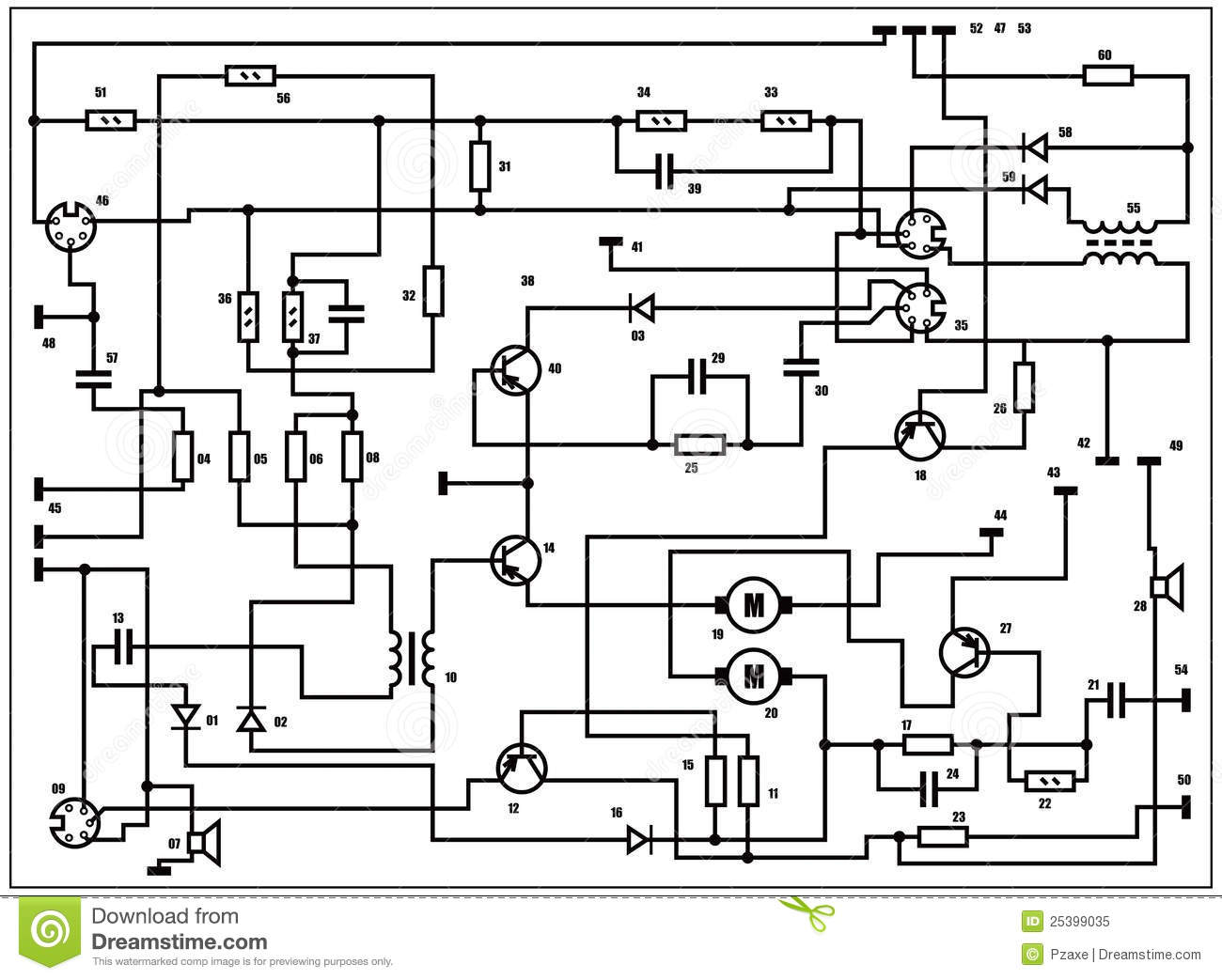 electrical plan vector