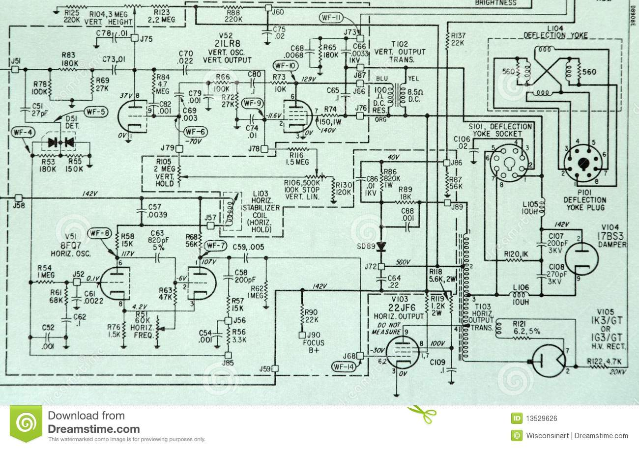 Electronic Components On Schematic Drawings Stock Image Auto Symbols Romeolozada001 Circuit Detail Diagram Photo