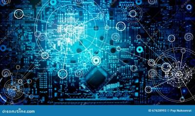 Electronic Circuit Network Grunge Background Stock Image - Image of macro, digital: 67628993