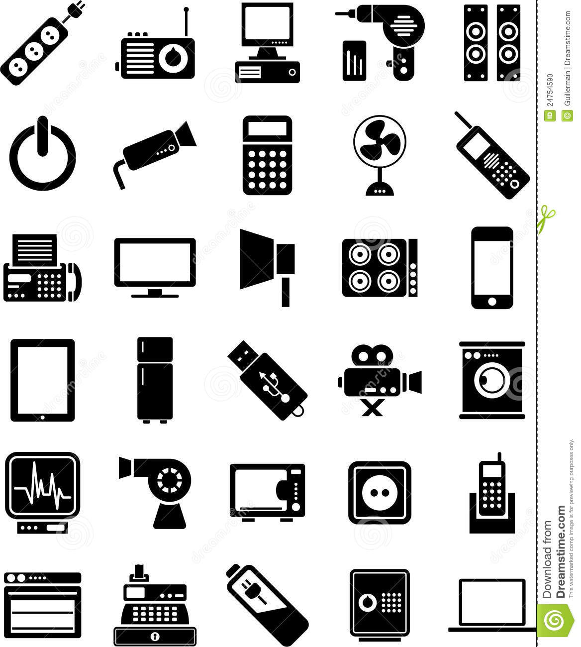 No Credit Check Financing Electronics Electronic Devices Icons Stock Photo Image 24754590