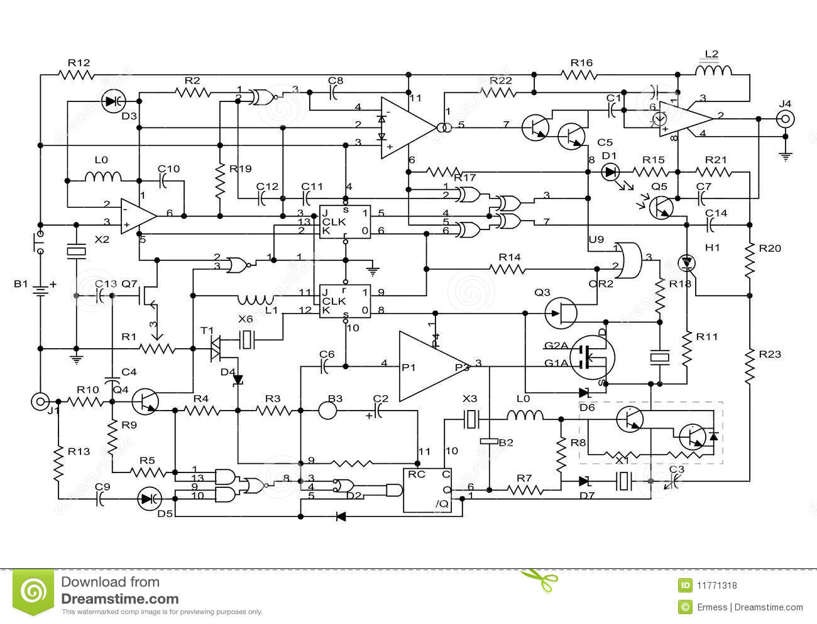 electronic circuit vias