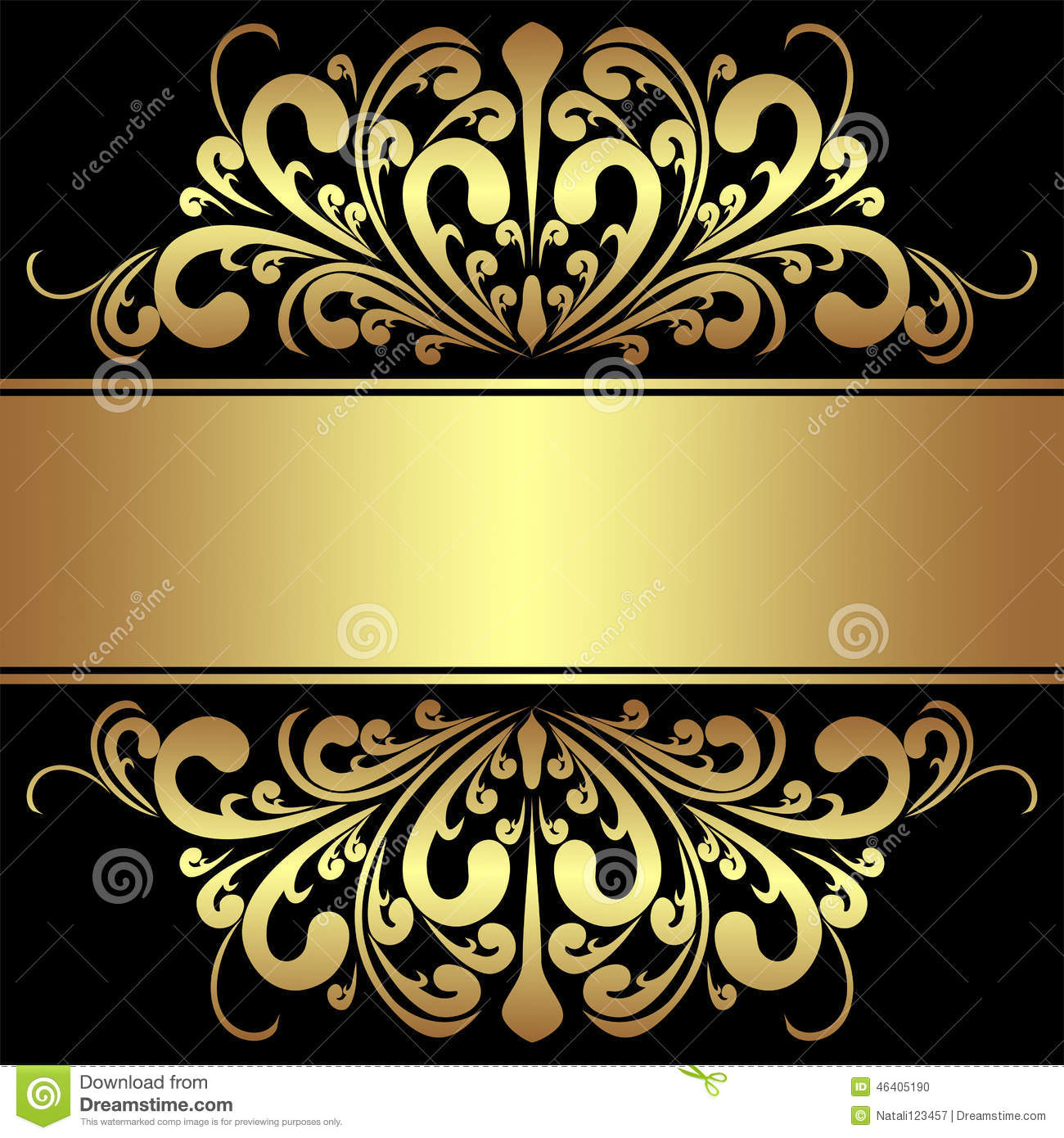 Islamic Wallpaper Hd 3d Elegant Background With Royal Golden Borders And Ribbon