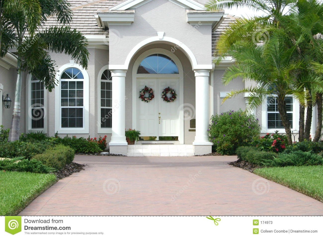 Beautiful Home Entrances Elegant Entrance To Beautiful Home Stock Image Image 174973