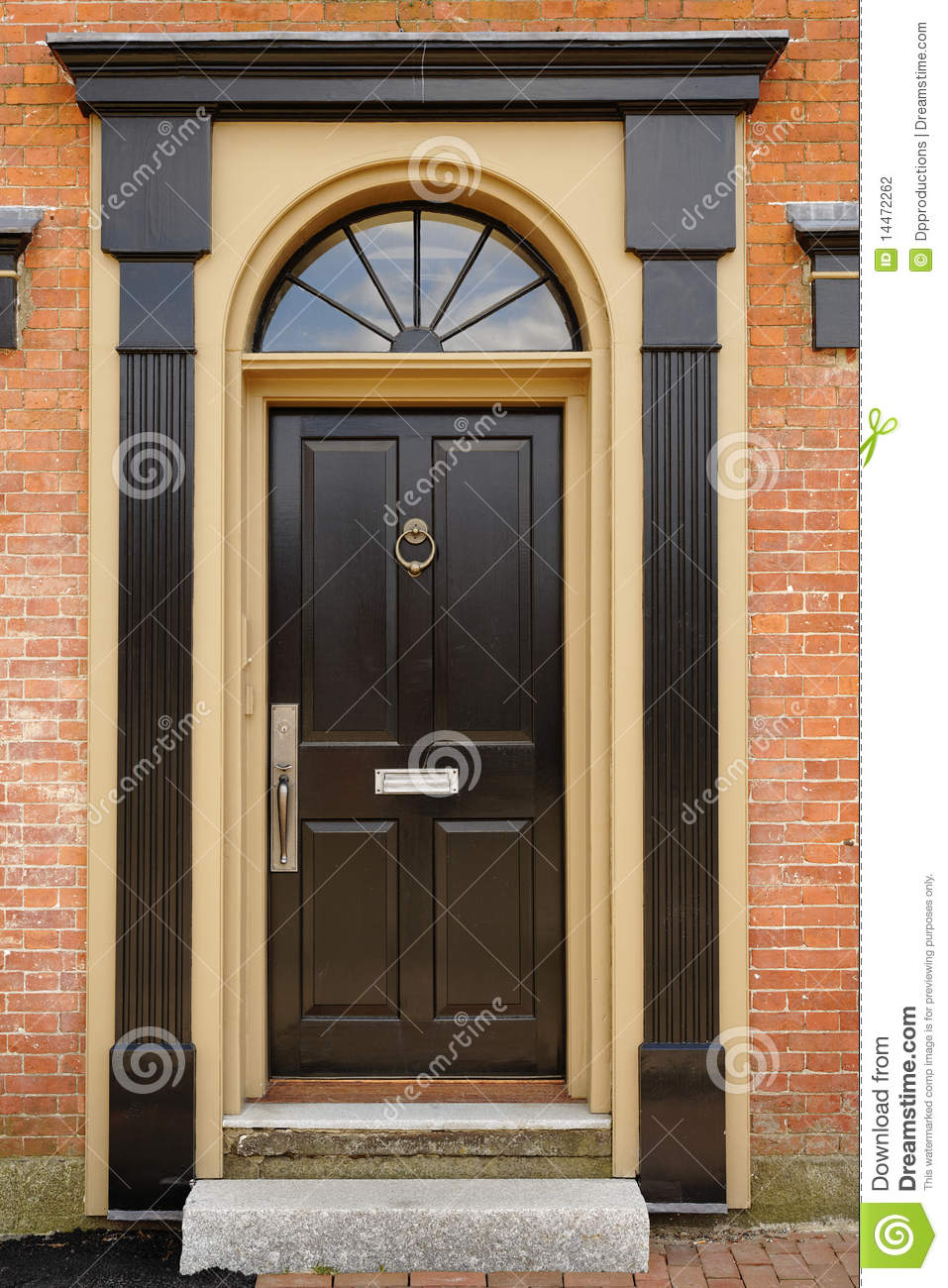 Plans For Building A New House Elegant Front Door In A Brick Building Stock Photography