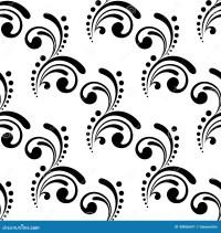 Elegant Seamless Pattern Design With Swirls And Stock ...