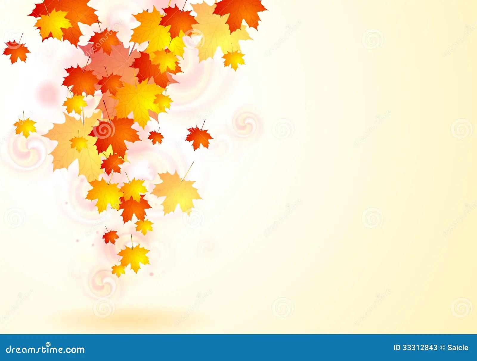 Falling Maple Leaves Wallpaper Elegant Vector Autumn Background Stock Vector