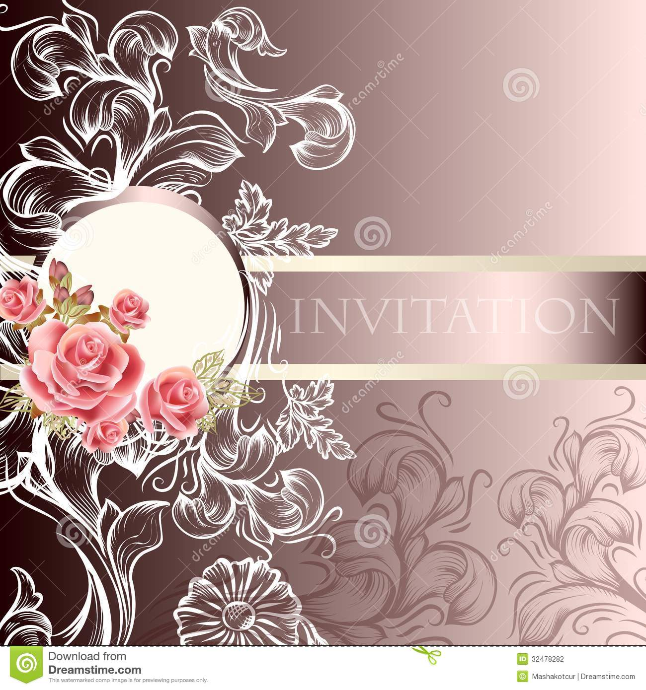 stock vector elegant wedding invitation elegant wedding invites Elegant Wedding Invitation Preview Save to a lightbox