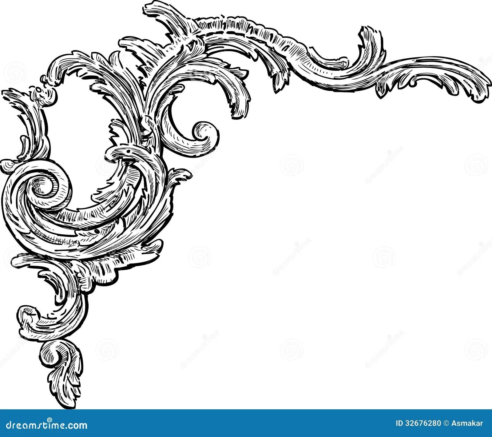 decorative floral o auto electrical wiring diagramelemento decorativo barroco ilustraci u00f3n del vector