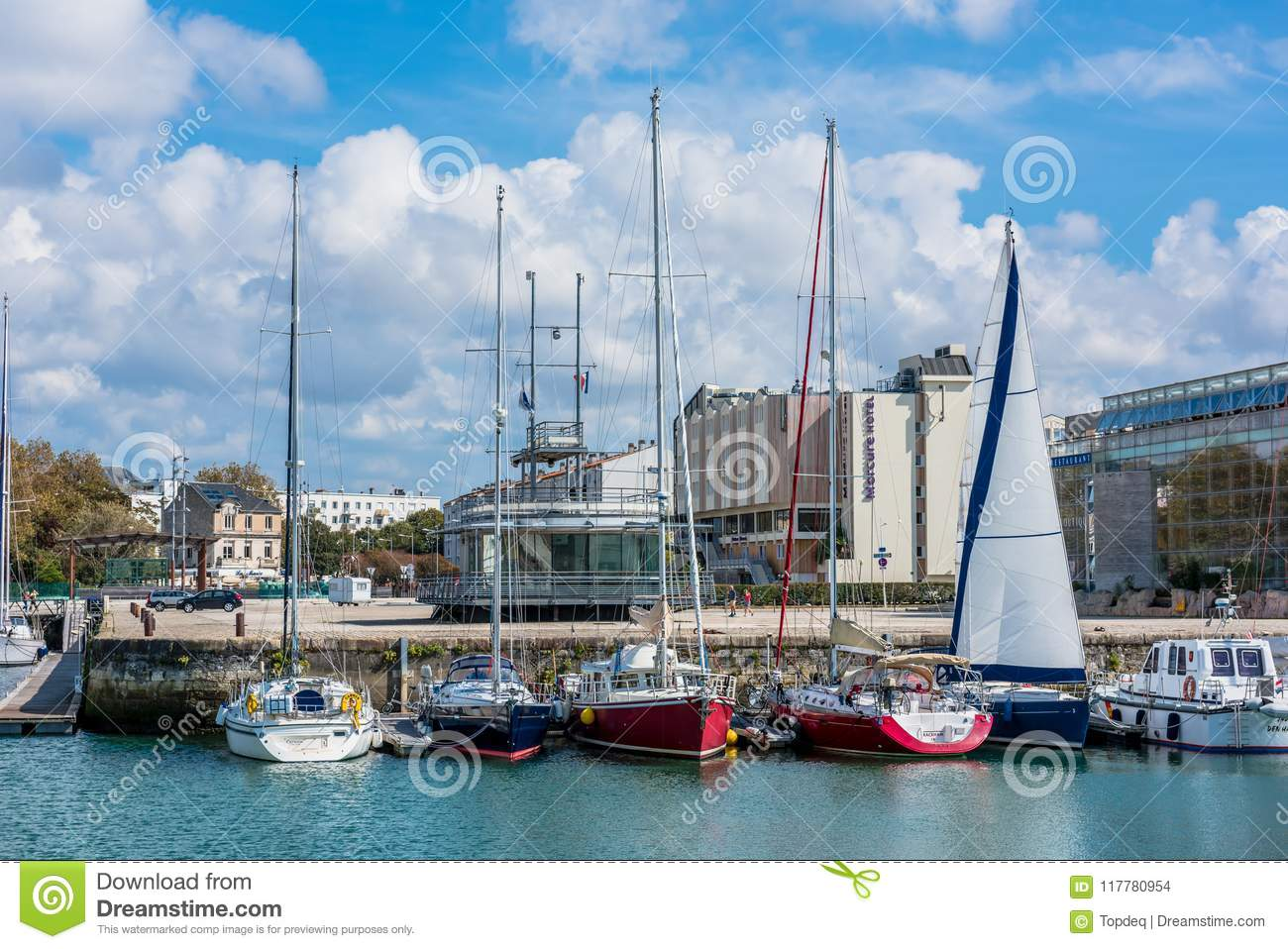 Hotel La Rochelle Port Embankment With The Hotel In La Rochelle France Editorial Stock