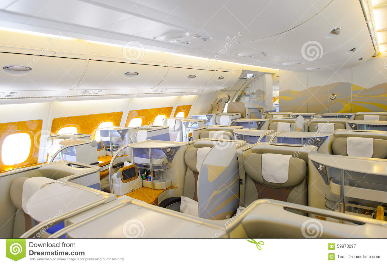 Interieur Airbus A380 Emirates Airbus A380 Interior Editorial Photography