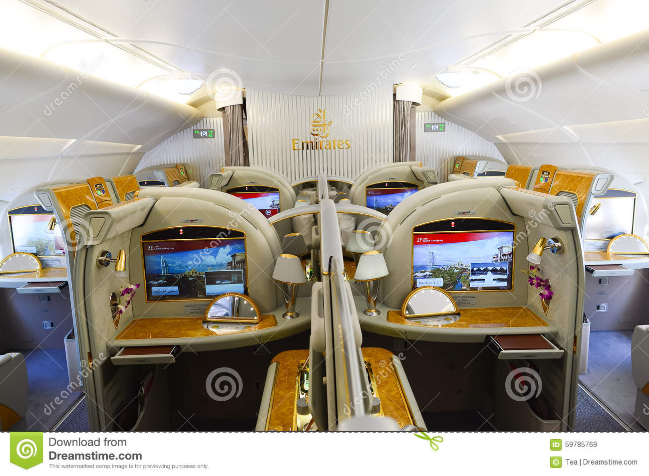 Interieur Airbus A380 Emirates Airbus A380 Interior Editorial Stock Image