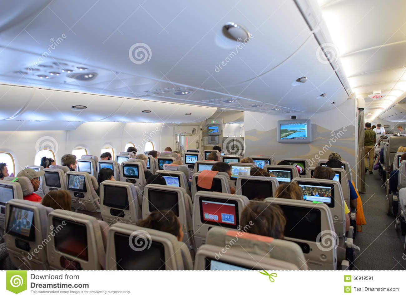 Interieur Airbus A380 Emirates A380 800 Interior Editorial Photo Image Of