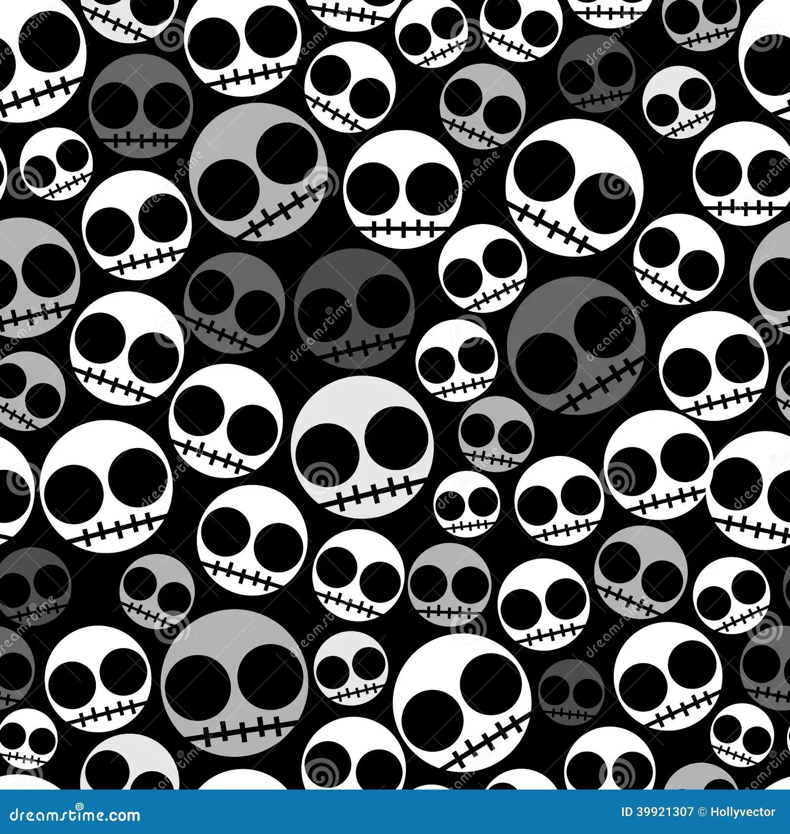 Skeleton Pattern Wallpaper Cute Emo Seamless Pattern Stock Vector Illustration Of Drawing