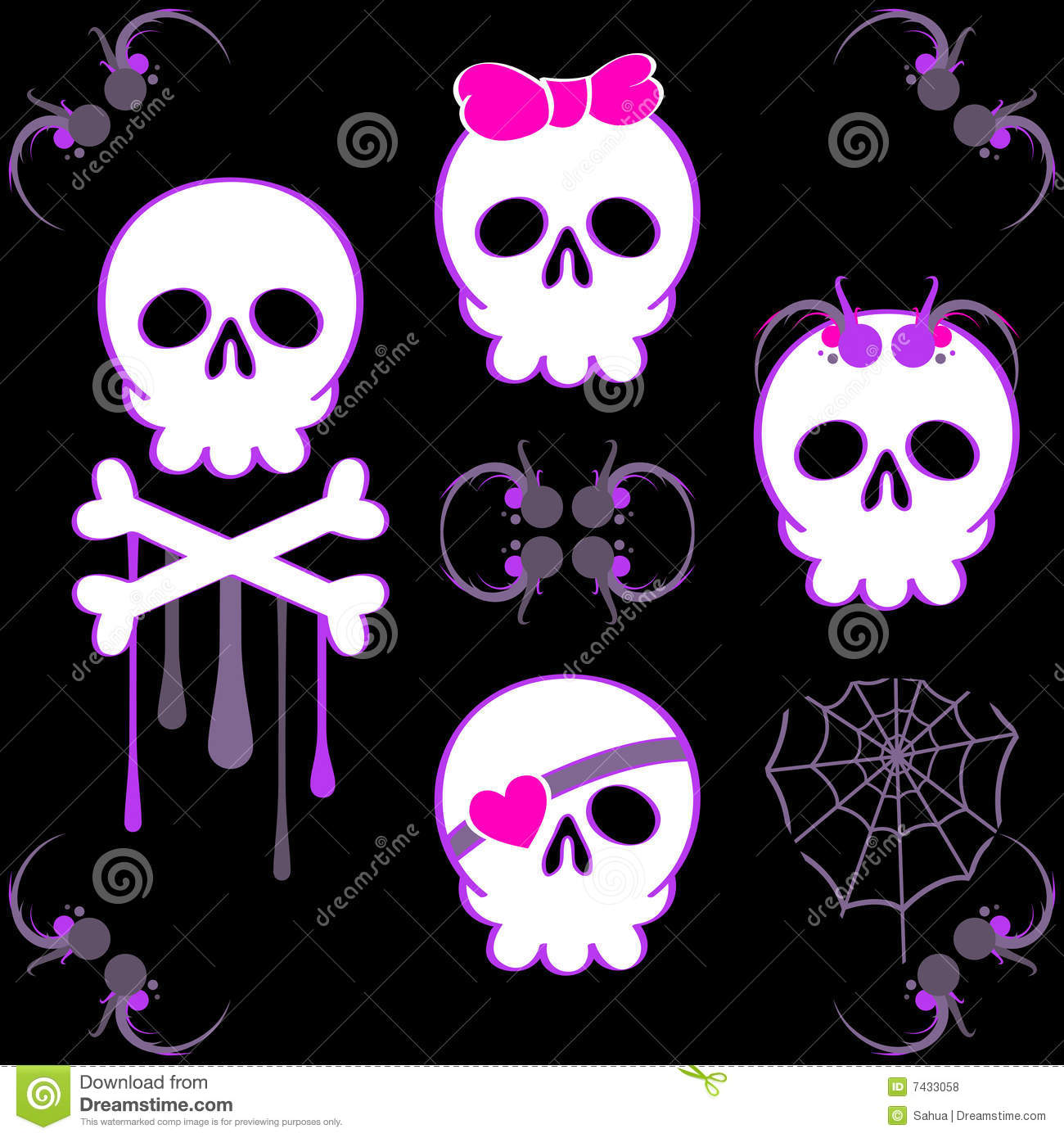Cute Emo Boy Wallpaper Emo Skulls Royalty Free Stock Photos Image 7433058