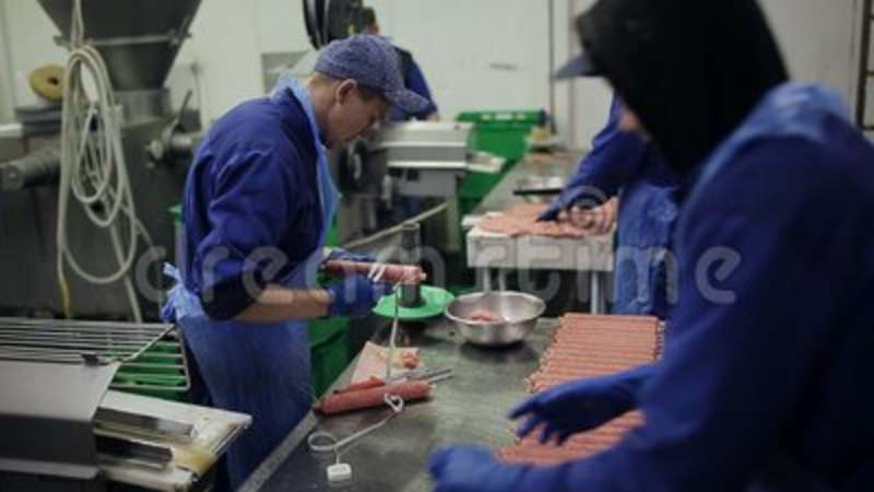 Quality Control In The Production Of Sausages Smoked Products Shop