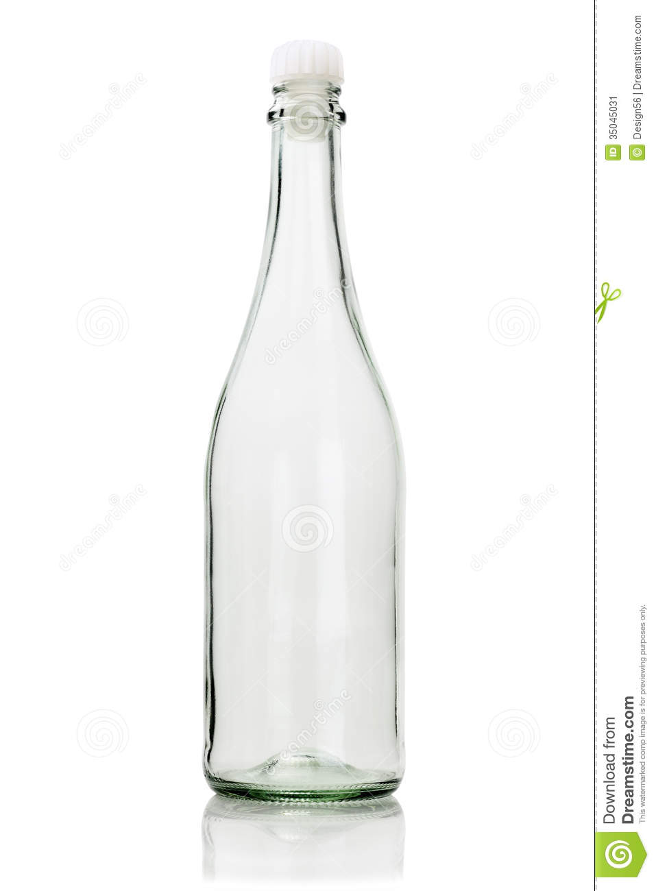 Empty Glass Bottle stock image. Image of isolated, plastic