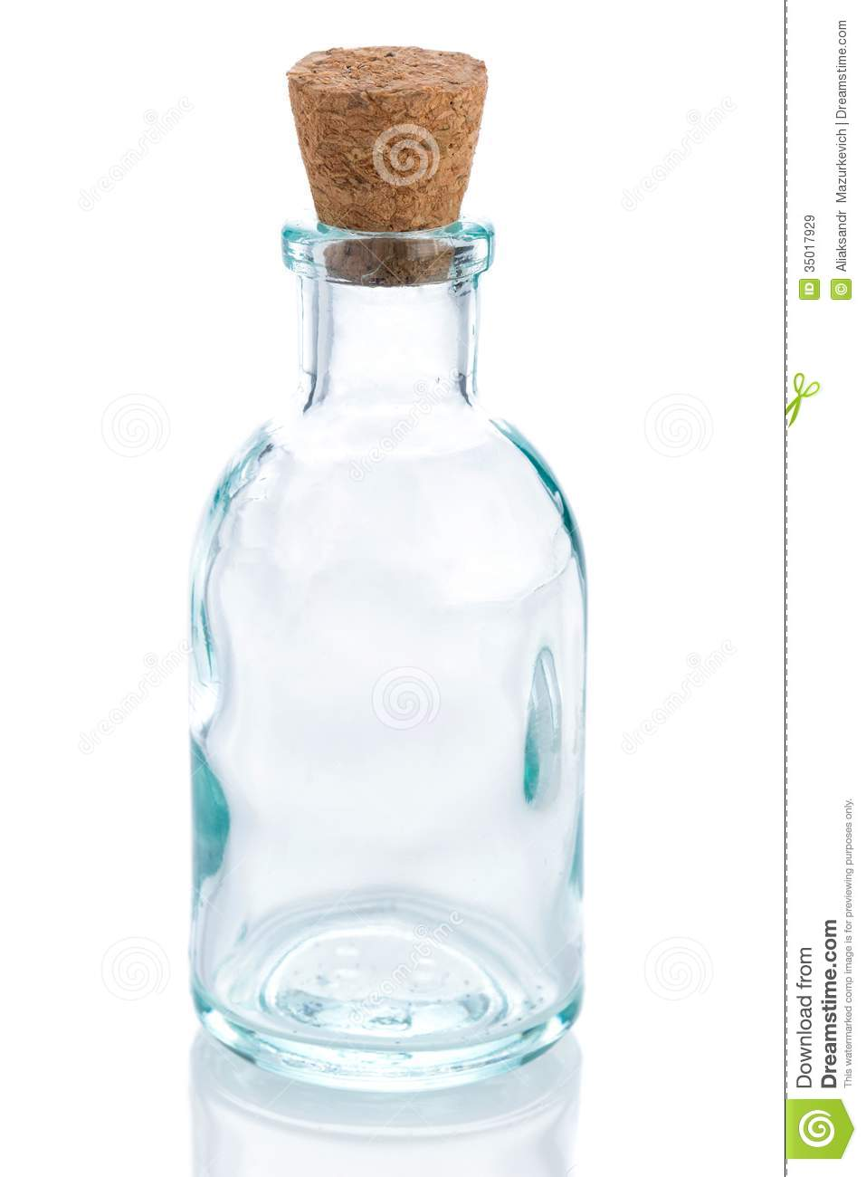 Empty Glass Bottle Royalty Free Stock Images